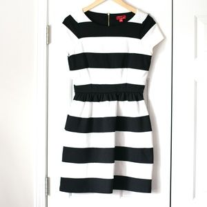 Elle short sleeve striped bell dress